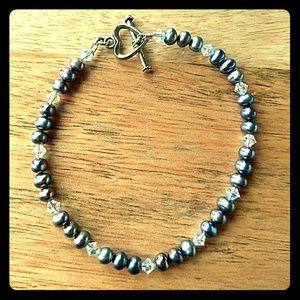 Pearl blue/green bracelet